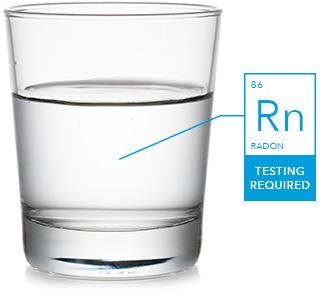 Radon contaminant in water