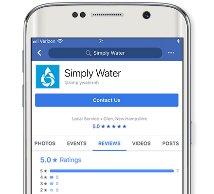 Simply Water on Facebook